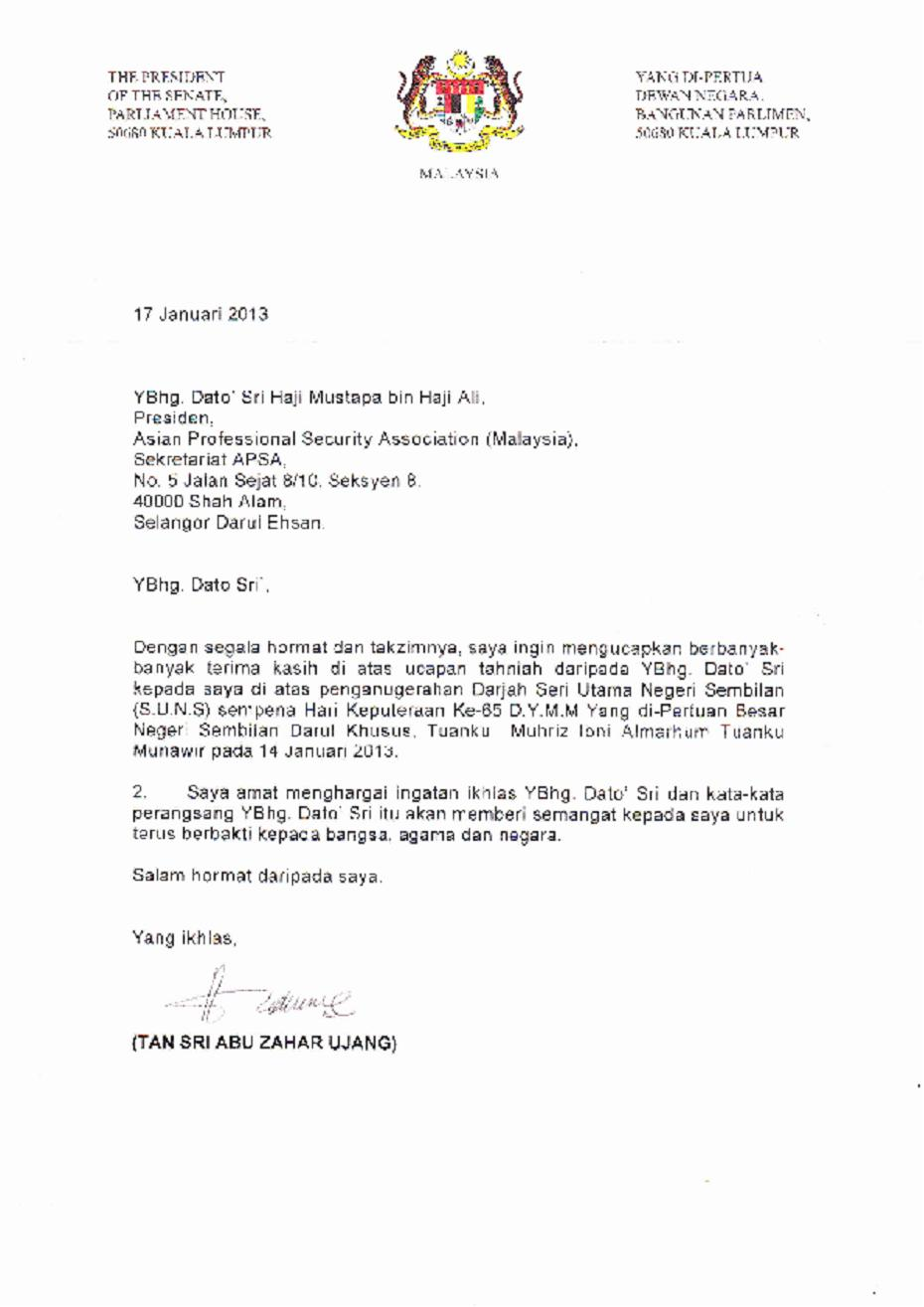Letter Of Appreciation Or Gratitude From The Corporate